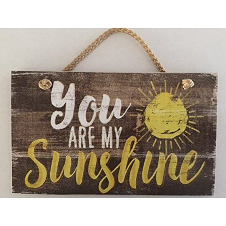"""0608814021862 - YOU ARE MY SUNSHINE WOOD HANGING SIGN 5.75"""" X 9.5"""""""