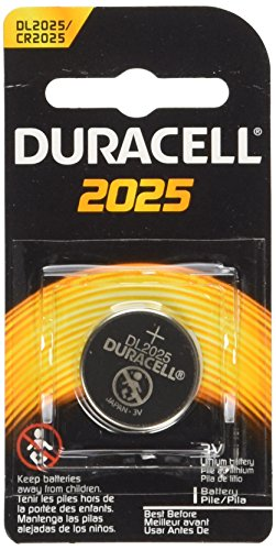 0608938148797 - 4 (2X2) DURACELL CR2025 3V BATTERIES