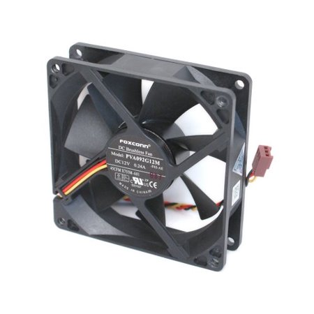 0608938997722 - FOXCONN PVA092G12M DC12 VOLT 0.24 AMP, REAR CASE BRUSHLESS COOLING FAN 92MM X 92MM X 25MM, 3-WIRE/3-PIN CONNECTOR