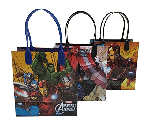 0609015813263 - (12CT) DISNEY NICKELODEON MARVEL BIRTHDAY GOODY GIFT LOOT FAVOR BAGS PARTY SUPPLIES (AVENGERS)