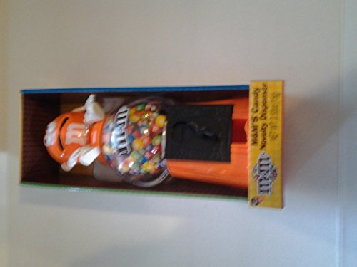 0609454650177 - 2015 OFFICIAL M&M'S BRAND ORANGE CHARACTER LIMITED EDITION NOVELTY GUMBALL STYLE & COIN BANK COLLECTIBLE 12 CANDY DISPENSER