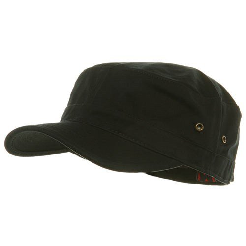 0609595187709 - TRENDY MILITARY FITTED CAP- BLACK W32S36D