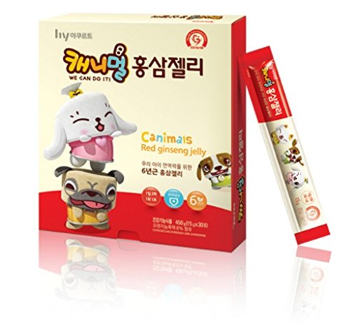 6099189359102 - KOREAN YAKULT CANIMALS RED GINSENG JELLY 450G (15GⅩ 30PCS)