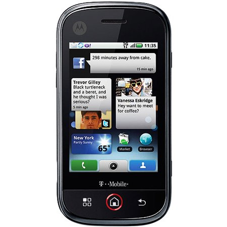 0610214620262 - CLIQ MB200 QUAD-BAND T-MOBILE PHONE BLACK