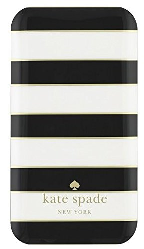 0610214643582 - KATE SPADE NEW YORK CHARGER- 1800 MAH - CANDY STRIPE (BLACK/CREAM/GOLD)