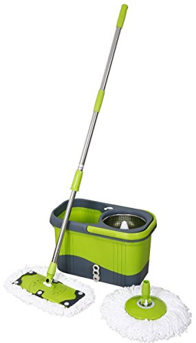 0610696851949 - MAGIC SPIN MOP STAINLESS LUXURY SERIES - MINT GREEN