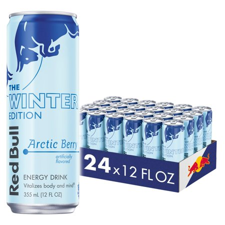 0611269841329 - RED BULL ENERGY DRINK, GLACIER ICE, 12 FL OZ (24COUNT), WINTER EDITION, 288 FL OZ