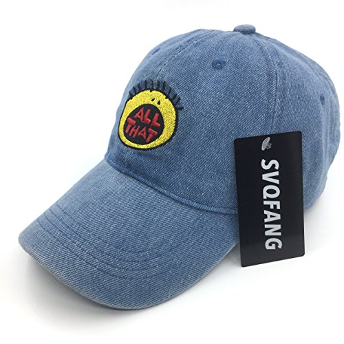 5c3a2f52fbdd5 0611801545838 - ALL THAT HAT DAD CAP 90S BASEBALL ADJUSTABLE SNAPBACK DENIM