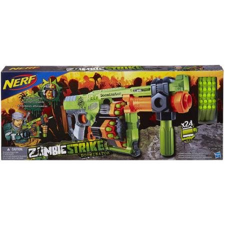 0613161086136 - NERF ZOMBIE STRIKE DOOMINATOR BLASTER SET UP TARGETS AND PLAY SOLO