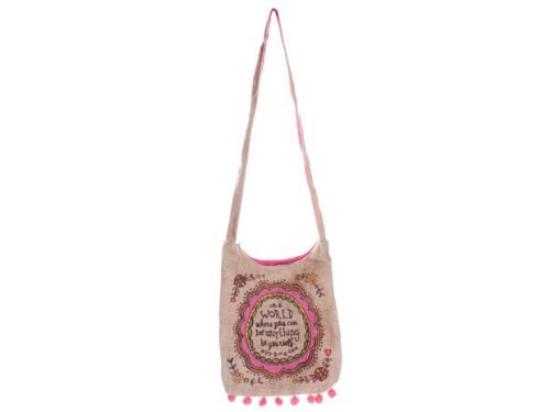 0614390309614 - NATURAL LIFE ART AND SOUL COSMETIC BAG, IN A WORLD WHERE YOU