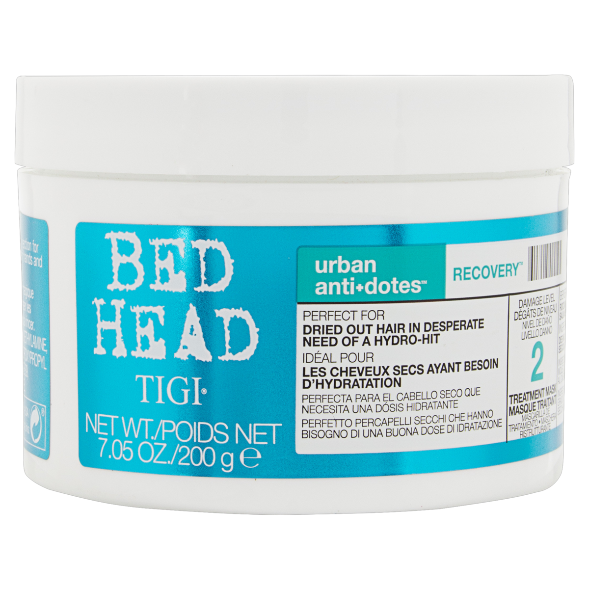 0615908424195 - MÁSCARA CONDICIONANTE BED HEAD TIGI URBAN ANTI+DOTES RECOVERY POTE 200G