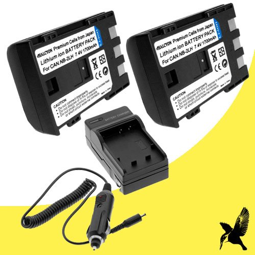 Halcyon 1700 mAH Lithium Ion Replacement Battery and Charger Kit for Canon VIXIA HV30 HDV 2.96MP Digital Camcorder and Canon NB-2LH