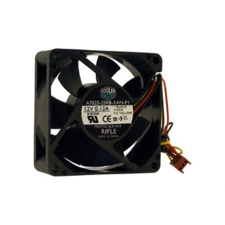 0619990609423 - COOLER MASTER 70MM X 70MM X 25MM FAN, 12V 0.12A 3PIN CONNECTOR