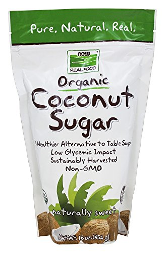 0620023161184 - NOW FOODS - NOW REAL FOOD ORGANIC COCONUT SUGAR - 16 OZ