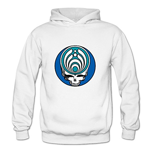 6262347035501 - CRYSTAL MEN'S STEAL YOUR FACE BASSNECTAR LONG SLEEVE HOODIEDS WHITE US SIZE L