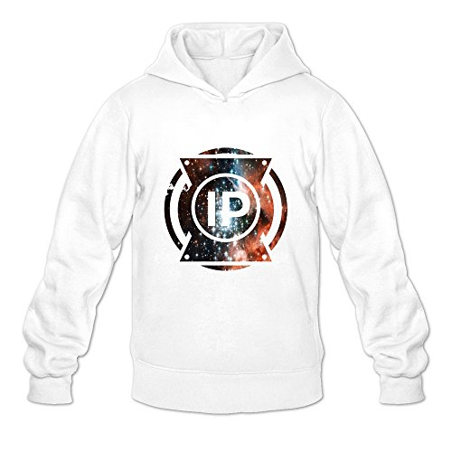 6262385613907 - CRYSTAL MEN'S I PREVAIL LONG SLEEVE HOODIED SWEATSHIRT WHITE US SIZE S