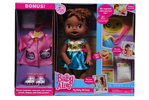 0630509248742 - BABY ALIVE MY BABY ALL GONE AFRICAN AMERICAN DOLL WITH BONUS OUTFIT AND FOOD
