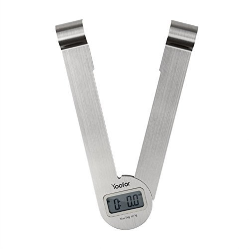 0631324829536 - (YOUFO) YOOFOR DIGITAL COOKING SCALE FOLDING WATER / MILK MODE STAINLESS STEEL TOP PLATE 5KG