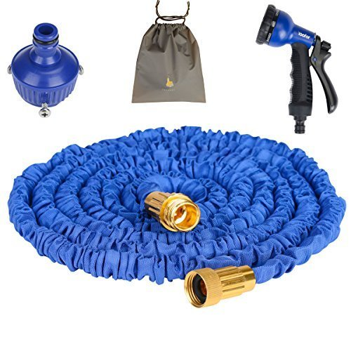 0631324832215 - (YOUFO) YOOFOR EXTEND HOSE 2016 ENHANCED VERSION 5M ¨ 15M 3 TIMES 8 PATTERN WATERING NOZZLE STORAGE TOTAL 4-COLOR BLUE WITH A PORCH EXTENDING