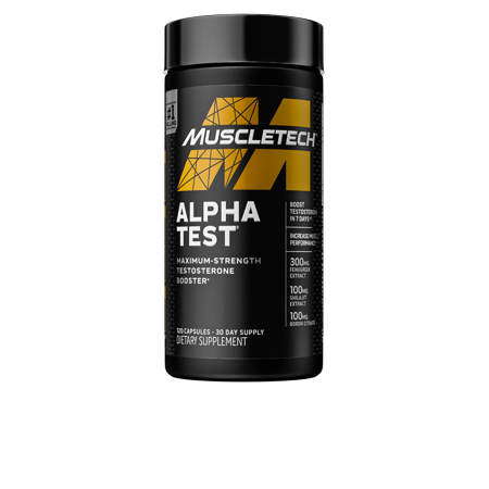 0631656606768 - MUSCLETECH PRO SERIES ALPHATEST, MAX-STRENGTH TESTOSTERONE BOOSTER, 120 RAPID-RELEASE CAPSULES