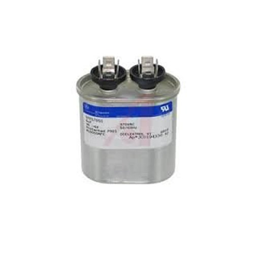 0631908869323 - GE CAPACITOR OVAL 5 UF MFD 370 VOLT 97F5705 (REPLACES OLD GE# Z97F5705, 97F95702, Z97F5702), 5UF 370 VAC(VAC), 5X370 RUN CAPACITOR