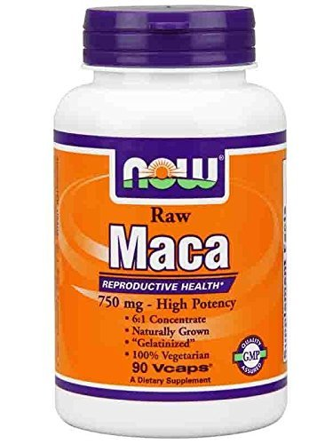 0632687760504 - NOW FOODS RAW MACA 750MG, 90 VCAPS (PACK OF 2)