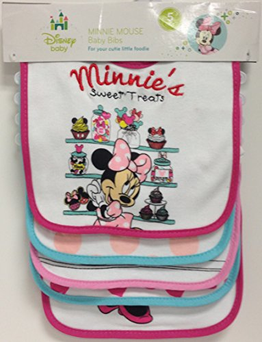 0632878200536 - MINNIE MOUSE 5PK BABY BIBS