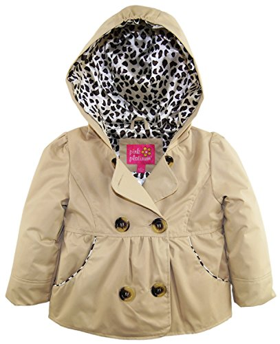0633585654346 - PINK PLATINUM BABY GIRLS' EMMA SPRING JACKET DOUBLE BREASTED TRENCH COAT, KHAKI, 12 MONTHS