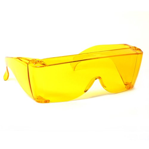 0634030464510 - RODEO M2 FIT OVER PRESCRIPTION RX NO BLIND-SPOT DRIVER DAY & NIGHT WRAP AROUND SUNGLASSES (AMBER)