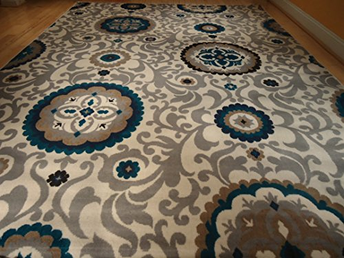 Beautiful Multi Size Area Rug 8x11 Rugs Blue Rug Modern