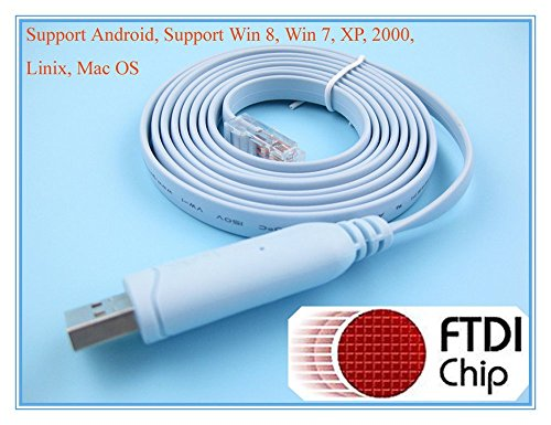 0634475554517 - FTDI USB TO SERIAL / RS232 CONSOLE ROLLOVER CABLE FOR CISCO ROUTERS - RJ45
