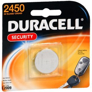 0634644731893 - DURACELL DL2450 LITHIUM COIN BATTERY, 2450 SIZE, 3V, 540 MAH CAPACITY (CASE OF 6)