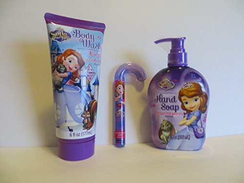 0634972680146 - DISNEY SOPHIA THE FIRST BODY LOTION BATH SET HAND SOAP BODY WASH LIP GLOSS 3 PIECE GIFT SET - RECOMMENDED AGES: 3 YRS +