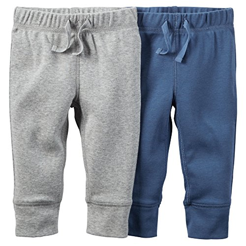 0635963783044 - CARTER'S BABY BOYS' 2 PACK PANTS (BABY) - CADET/GRAY-9M