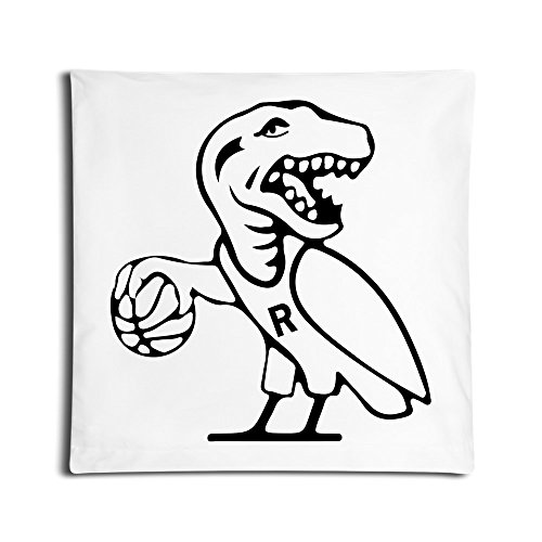 6362317112383 - FUNNY RAPTORS OVO BASKETBALL PILLOW COVERS WHITE 18X18 INCH