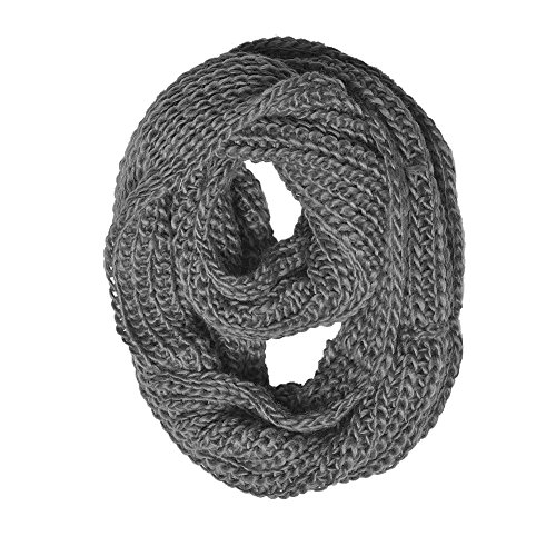 0636266648764 - CHUNKY KNIT INFINITY SCARF GREY COLOR