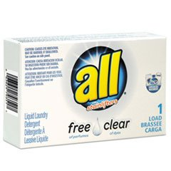 0063629793517 - ALL FREE CLEAR HE LIQUID LAUNDRY DETERGENT, UNSCENTED, 1.6 OZ VEND-BOX (100 CT.)