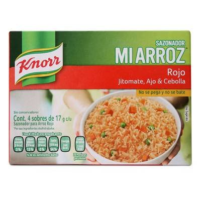 0636824152115 - KNORR MI ARROZ RICE SEASONING MIX, RED, (4 BAGS OF 17 GRMS EACH IN 1 BOX)