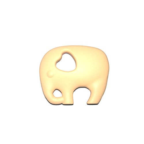 0637012175411 - RIORAND FOOD GRADE SOFT SILICONE BABY INFANT TEETHING TEETHER TOY NON-TOXIC & BPA FREE GUM MASSAGERS ELEPHANT (LIGHT YELLOW)