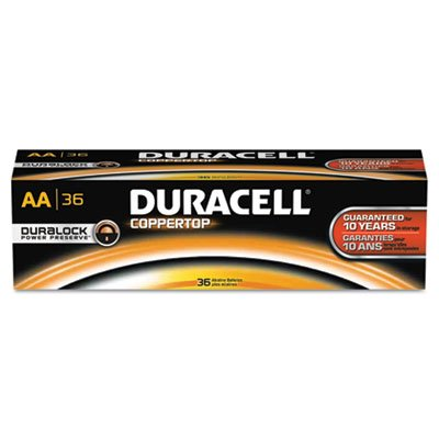 0638458746883 - COPPERTOP ALKALINE BATTERIES WITH DURALOCK POWER PRESERVE TECHNOLOGY, AA, 36/PK, SOLD AS 1 PACKAGE, 36 EACH PER PACKAGE