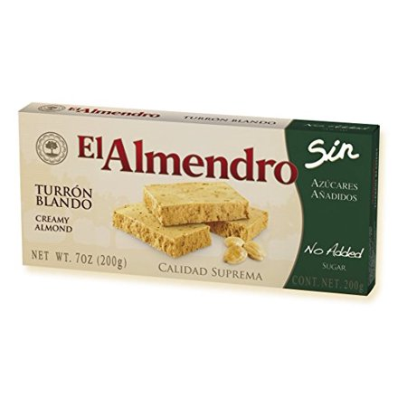 0638564902159 - EL ALMENDRO CREAMY ALMOND NO ADDED SUGARS (TURRON BLANDO SIN AZUCAR AÑADIDA) 7OZ SINGLE BOX - PRODUCT OF SPAIN