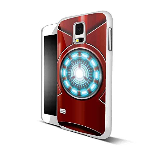 6391946625131 - ARC REACTOR IRON MAN FOR IPHONE AND SAMSUNG GALAXY CASE (SAMSUNG S5 WHITE)