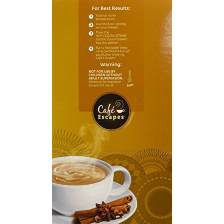 0639713543346 - CAFÉ ESCAPES CHAI LATTE, K-CUPS FOR KEURIG BREWERS, 24-COUNT (PACK OF 2)