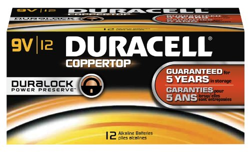 0640206322850 - DURACELL COPPERTOP 9V 12 PACK MN1604BKD