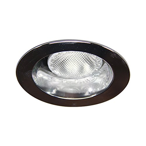 6 Inch Par30 Adjustable Gimbal Ring Trim White Recessed: ECO LIGHTING NY HV6004CH 6-INCH LINE VOLTAGE TRIM RECESSED
