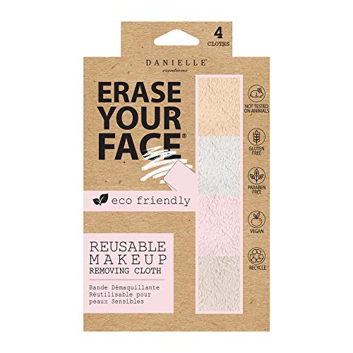 0064323287852 - ERASE YOUR FACE ERASE YOUR FACE RE-USABLE MAKE-UP REMOVING CLOTHS WITH ECO FRIENDLY PACKAGING BY DANIELLE ENTERPRISES,