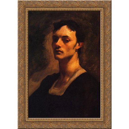 0643676611943 - ALBERT DE BELLEROCHE 24X18 GOLD ORNATE WOOD FRAMED CANVAS ART BY JOHN SINGER SARGENT