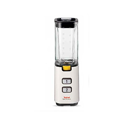 6465790748145 - TEFAL BL-1401 TEFAL CLICK-AND-TASTE WHITE MINI GLASS BLENDER BL1401 600ML / SANITARY GLASS / MULTI-PURPOSE SHAKER MIXER / EASY ONE-CLICK POWERFUL / BABY FOOD CRUSHED ICE