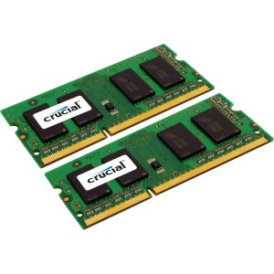 0649528762061 - CRUCIAL 16GB KIT (8GBX2) DDR3L 1333 MT/S (PC3-10600) CL9 204-PIN SODIMM MEMORY FOR MAC CT2K8G3S1339M / CT2C8G3S1339M