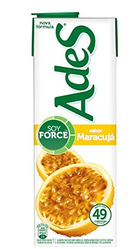6498575498577 - ADES- SUCO DE SOJA - MARACUJA- SOY JUICE - PASSION FRUIT (PACK OF 3)